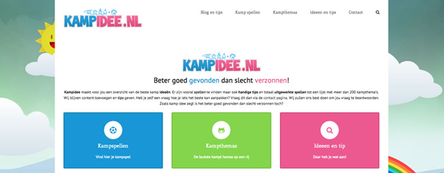 kampidee nieuwe website