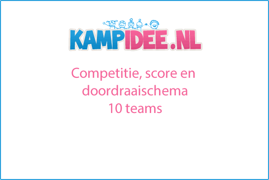 competitie, score en doordraai schema 10 teams