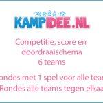 competitie, score en doordraai schema 6 teams